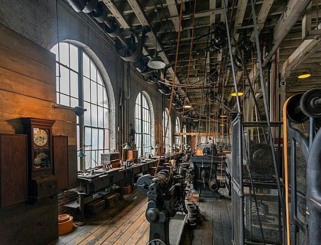 Um dos laboratórios de Thomas Edison