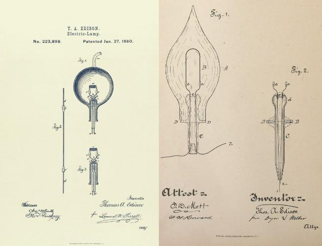 Patente da lâmpada elétrica incandescente
