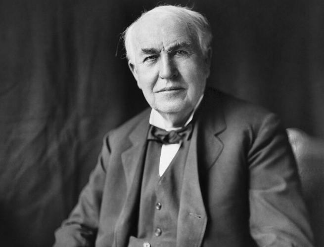 Thomas Edison já mais próximo do fim da carreira