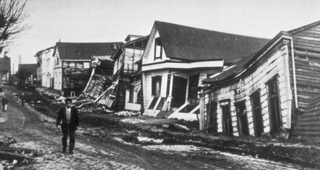 Valdívia após o terremoto